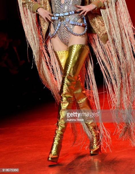 Model walks the Runway for The Blonds at Spring Studios on February 13 2018 in New York City