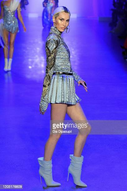 Model walks the runway for The Blonds during New York Fashion Week: The Shows at Gallery I at Spring Studios on February 09, 2020 in New York City.