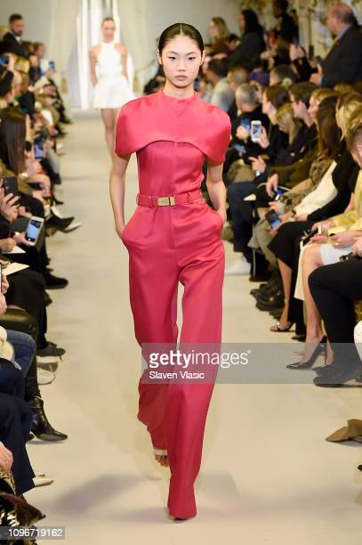 A model walks the runway for the Brandon Maxwell fashion show during New York Fashion Week The Shows at Penn Plaza Pavilion on February 9 2019 in New...