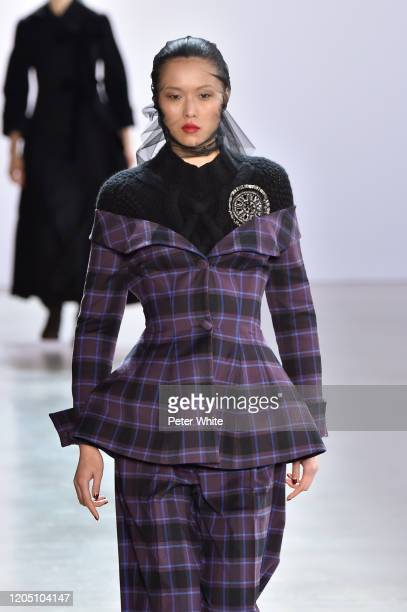 Model walks the runway for the Brock Collection during February 2020 - New York Fashion Week: The Shows at Gallery I at Spring Studios on February...