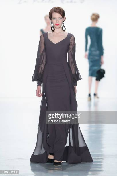 A model walks the runway for the Chiara Boni La Petite Robe collection during New York Fashion Week The Shows at Gallery 3 Skylight Clarkson Sq on...