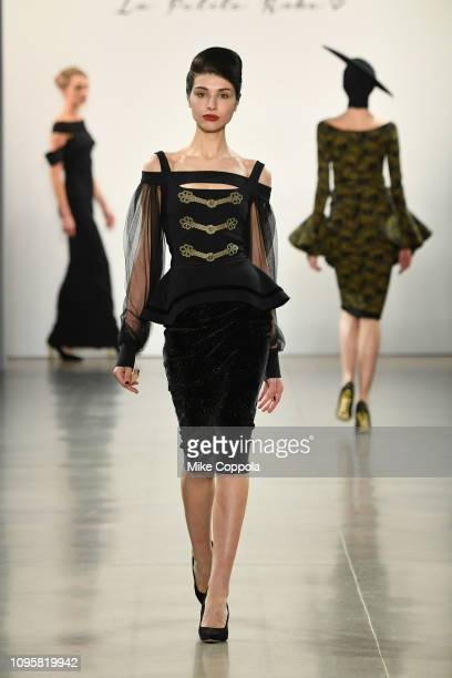 Model walks the runway for the Chiara Boni La Petite Robe fashion show during New York Fashion Week: The Shows at Gallery II at Spring Studios on...