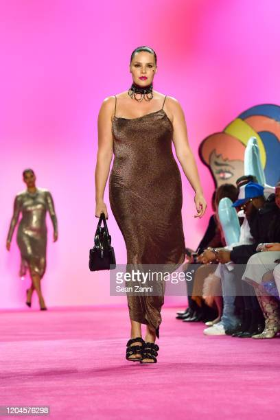 A model walks the runway for the Christian Siriano AW 20 Fashion Show at Gallery I at Spring Studios on February 06 2020 in New York City