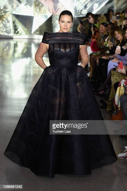 A model walks the runway for the Christian Siriano fashion show during New York Fashion Week The Shows at Top of the Rock on February 9 2019 in New...