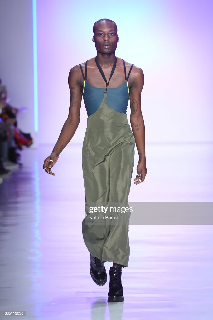 A model walks the runway for the Chromat collection during, New York Fashion Week: The Shows at Gallery 3, Skylight Clarkson Sq on February 10, 2017 in New York City.