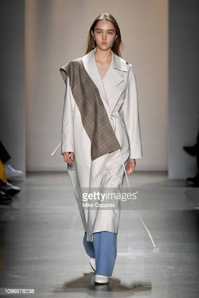 Model walks the runway for the Concept Korea fashion show during New York Fashion Week: The Shows at Gallery I at Spring Studios on February 9, 2019...
