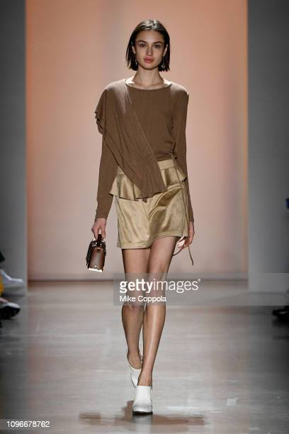A model walks the runway for the Concept Korea fashion show during New York Fashion Week The Shows at Gallery I at Spring Studios on February 9 2019...