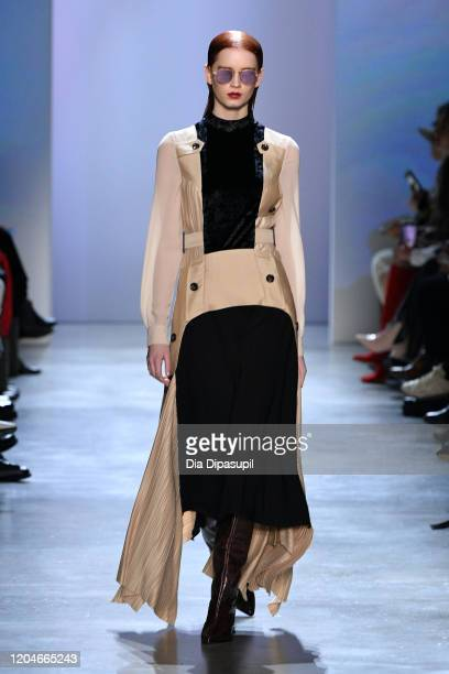 A model walks the runway for the Concept Korea fashion show during February 2020 New York Fashion Week The Shows at Gallery I at Spring Studios on...