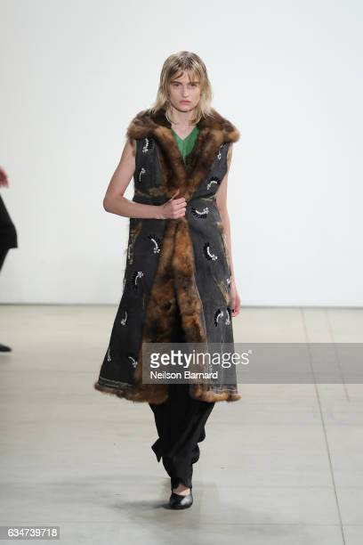 A model walks the runway for the Creatures of the Wind collection during New York Fashion Week The Shows at Gallery 2 Skylight Clarkson Sq on...