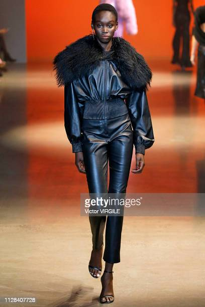 A model walks the runway for the Cushnie Ready to Wear Fall/Winter 20192020 fashion show during New York Fashion Week on February 8 2019 in New York...