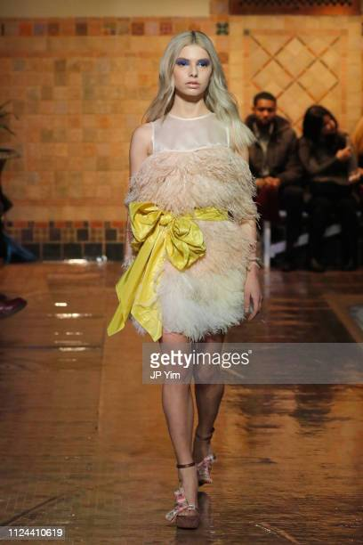 A model walks the runway for the Cynthia Rowley fashion show during New York Fashion Week The Show on February 12 2019 in New York City