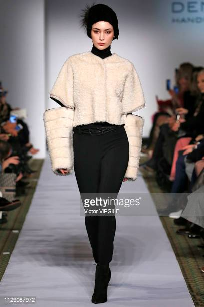 A model walks the runway for the Dennis Basso Ready to Wear Fall/Winter 20192020 fashion show during New York Fashion Week on February 11 2019 in New...