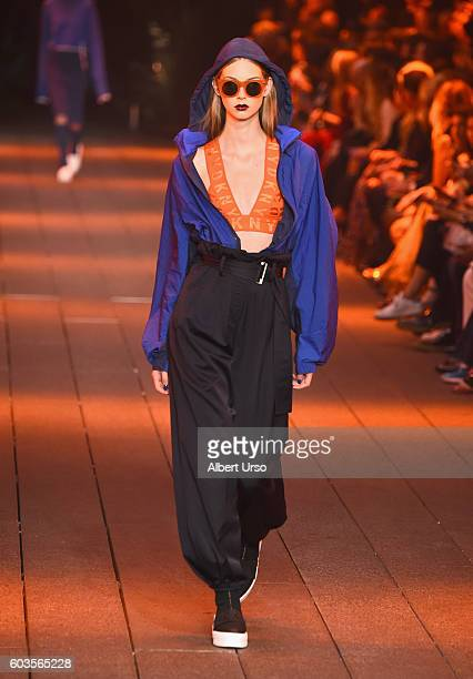 e4b4a1dc484c A model walks the runway for the DKNY Women fashion show during New York  Fashion Week