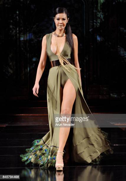 Model walks the runway for the Eliya Cioccolato fashion show during New York Fashion Week NYFW Art Hearts Fashion at The Angel Orensanz Foundation on...