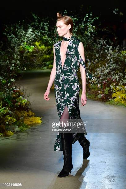 Model walks the runway for the Jason Wu Collection during February 2020 - New York Fashion Week: The Shows at Skylight Modern on February 09, 2020 in...