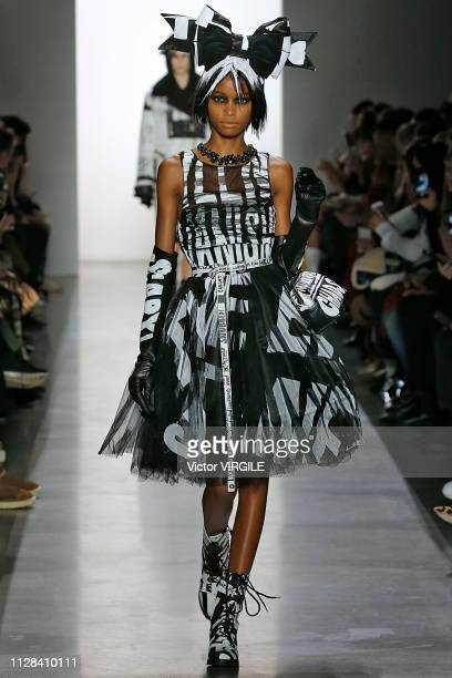 A model walks the runway for the Jeremy Scott Ready to Wear Fall/Winter 20192020 fashion show during New York Fashion Week on February 8 2019 in New...