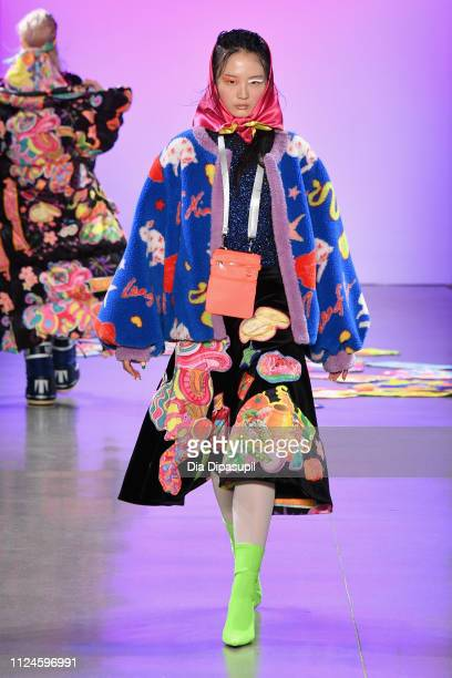 Model walks the runway for the Leaf Xia NYFW FW19 Fashion Show during New York Fashion Week: The Shows at Gallery II at Spring Studios on February...