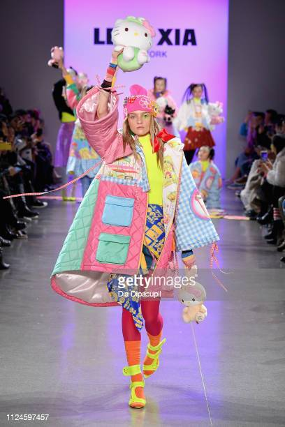 A model walks the runway for the Leaf Xia NYFW FW19 Fashion Show during New York Fashion Week The Shows at Gallery II at Spring Studios on February...