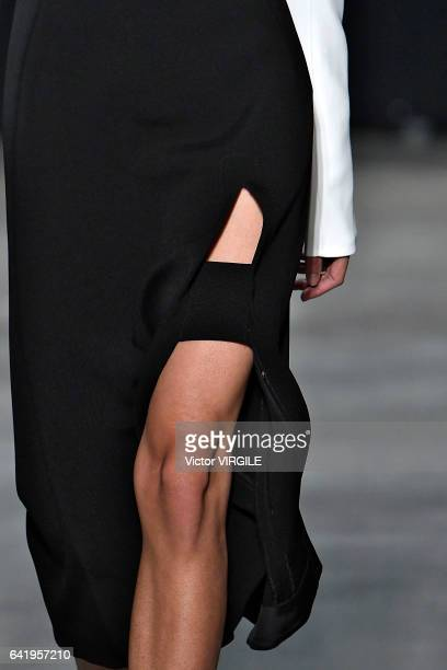 A model walks the runway for the Narciso Rodriguez Fall Winter 20172018 Ready to Wear fashion show during New York Fashion Week on February 14 2017...
