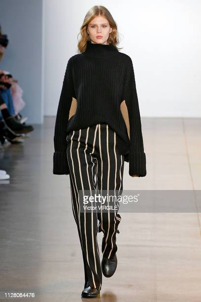 A model walks the runway for the Noon By Noor Ready to Wear Fall/Winter 20192020 fashion show during New York Fashion Week on February 7 2019 in New...