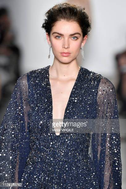 A model walks the runway for the Pamella Roland Ready to Wear Fall/Winter 20192020 fashion show during New York Fashion Week on February 7 2019 in...