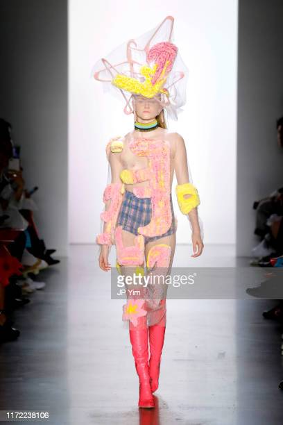 A model walks the runway for the Parsons MFA September 2019 fashion show during New York Fashion Week The Shows at Gallery I at Spring Studios on...