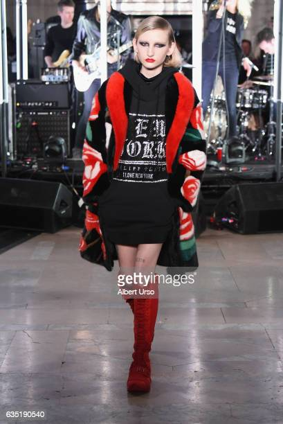 91b893c5d380 A model walks the runway for the Philipp Plein collection during New York  Fashion Week The