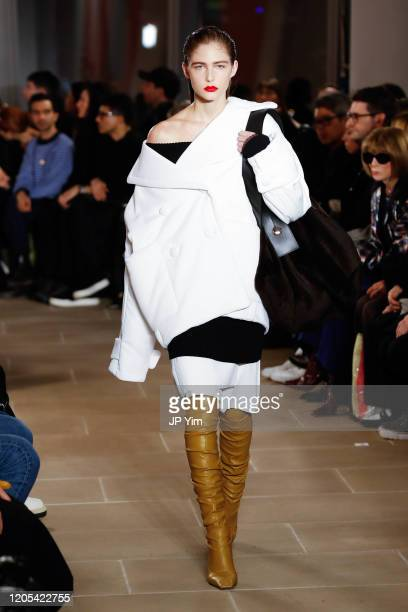 A model walks the runway for the Proenza Schouler fashion show during February 2020New York Fashion Week The Shows on February 10 2020 in New York...