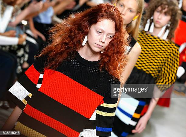 A model walks the runway for the Proenza Schouler fashion show during New York Fashion Week September 2016 at The Gallery Skylight at Clarkson Sq on...