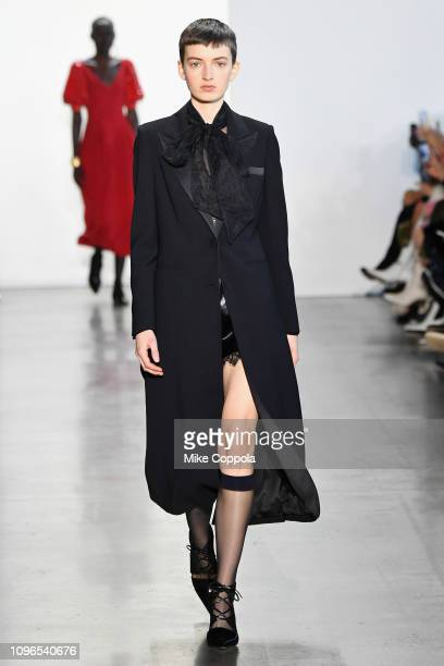 A model walks the runway for the SelfPortrait fashion show during New York Fashion Week The Shows at Gallery I at Spring Studios on February 9 2019...