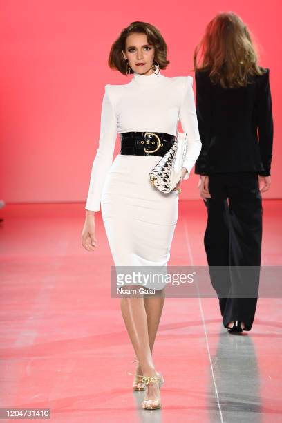 A model walks the runway for the Sergio Hudson fashion show during February 2020 New York Fashion Week The Shows at Gallery II at Spring Studios on...