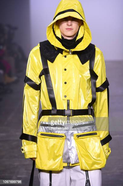 A model walks the runway for the Seven Crash fashion show during New York Fashion Week The Shows at Industria Studios on February 10 2019 in New York...