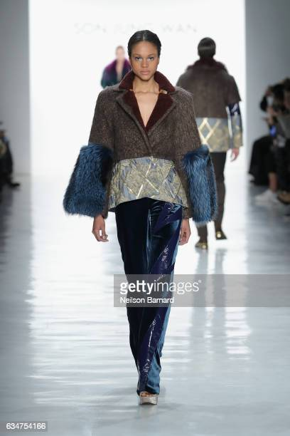 A model walks the runway for the Son Jung Wan collection during New York Fashion Week The Shows at Gallery 3 Skylight Clarkson Sq on February 11 2017...