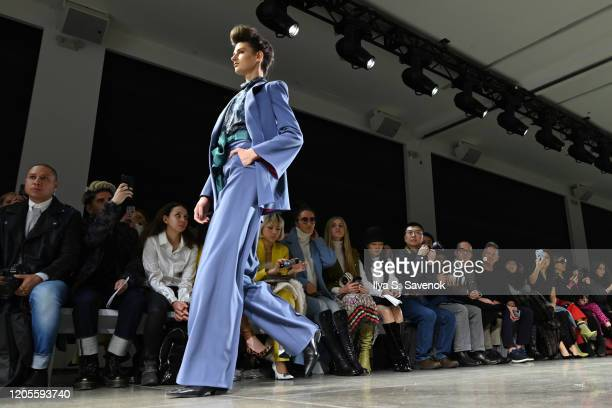 Model walks the runway for the Taoray Wang fashion show during February 2020 - New York Fashion Week: The Shows at Gallery II at Spring Studios on...