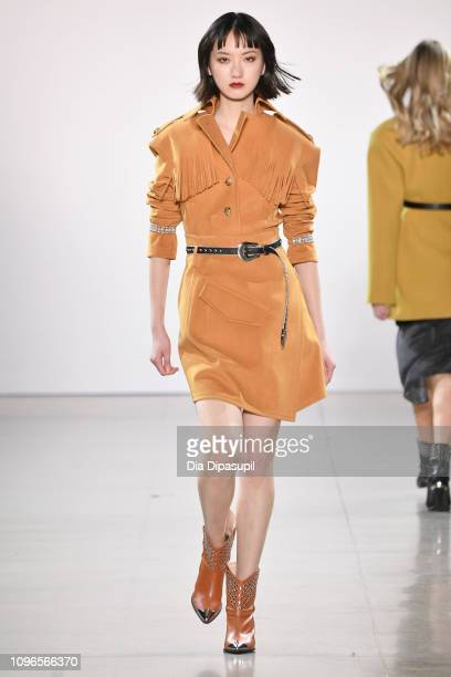 Model walks the runway for the Taoray Wang fashion show during New York Fashion Week: The Shows at Gallery II at Spring Studios on February 9, 2019...