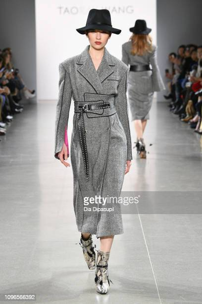 A model walks the runway for the Taoray Wang fashion show during New York Fashion Week The Shows at Gallery II at Spring Studios on February 9 2019...