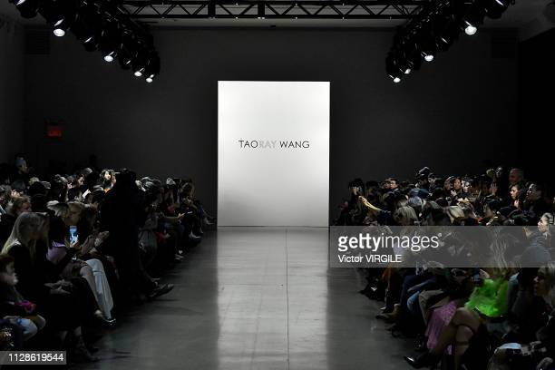 A model walks the runway for the Taoray Wang Ready to Wear Fall/Winter 20192020 fashion show during New York Fashion Week on February 9 2019 in New...