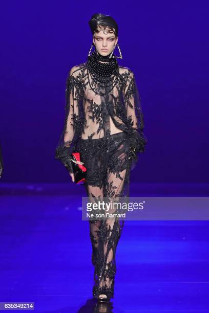 A model walks the runway for the The Blonds collection during New York Fashion Week The Shows at Gallery 1 Skylight Clarkson Sq on February 14 2017...