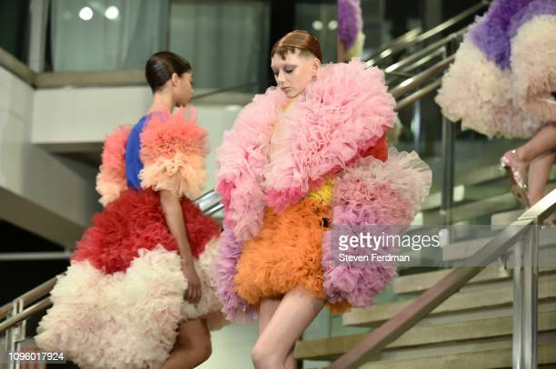 A model walks the runway for the Tomo Koizumi fashion show during New York Fashion Week at Marc Jacobs Madison on February 8 2019 in New York City