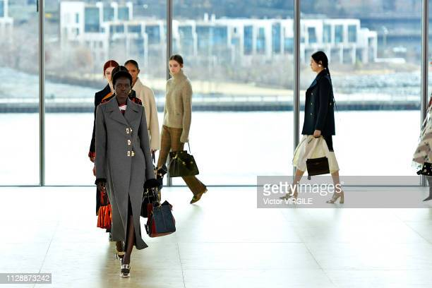 A model walks the runway for the Tory Burch Ready to Wear Fall/Winter 20192020 fashion show during New York Fashion Week on February 10 2019 in New...