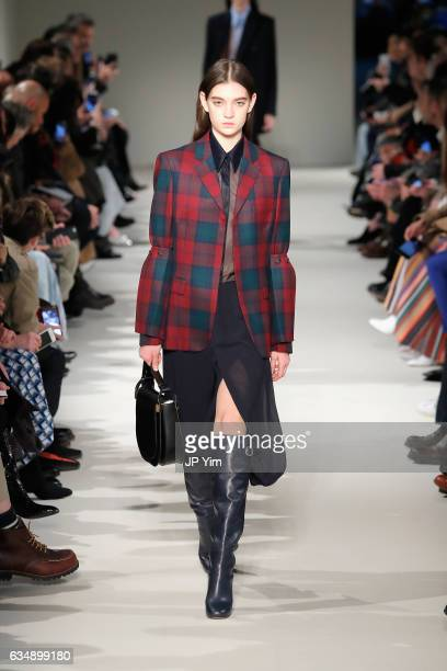 Model walks the runway for the Victoria Beckham collection during, New York Fashion Week: The Shows on February 12, 2017 in New York City.