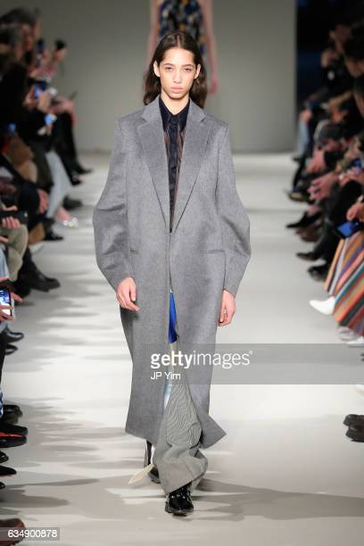 A model walks the runway for the Victoria Beckham collection during New York Fashion Week The Shows on February 12 2017 in New York City