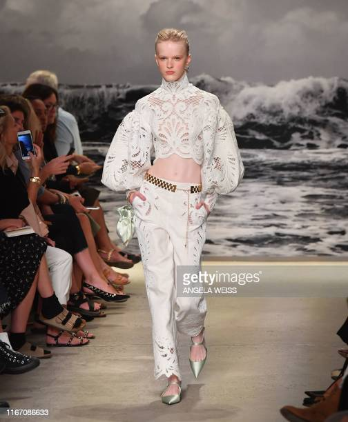 Model walks the runway for the Zimmermann Spring 20 Collection show during New York Fashion Week on September 9, 2019 in New York City.