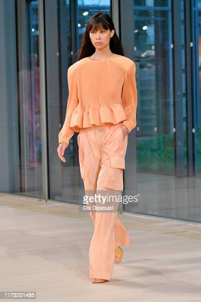A model walks the runway for Tibi during New York Fashion Week on September 08 2019 in New York City
