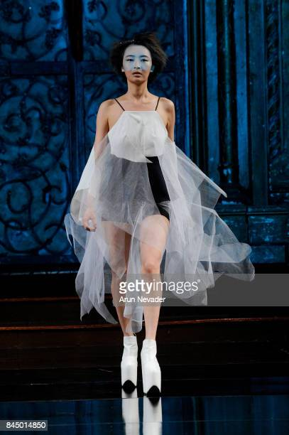 A model walks the runway for To Be Thrill X Judgement of Paris #THRILLNYC at New York Fashion Week NYFW Art Hearts Fashion at The Angel Orensanz...
