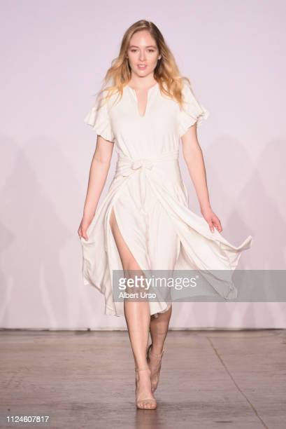 A model walks the runway for Tom Foolery at the The CAAFD Emerging Designer Showcase Fashion Show during New York Fashion Week The Shows at Industria...