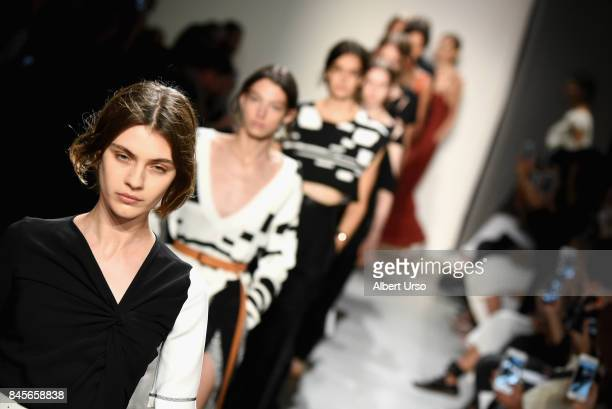 Model walks the runway for TRESemme at Colvos fashion show during New York Fashion Week: The Shows at Gallery 2, Skylight Clarkson Sq on September...