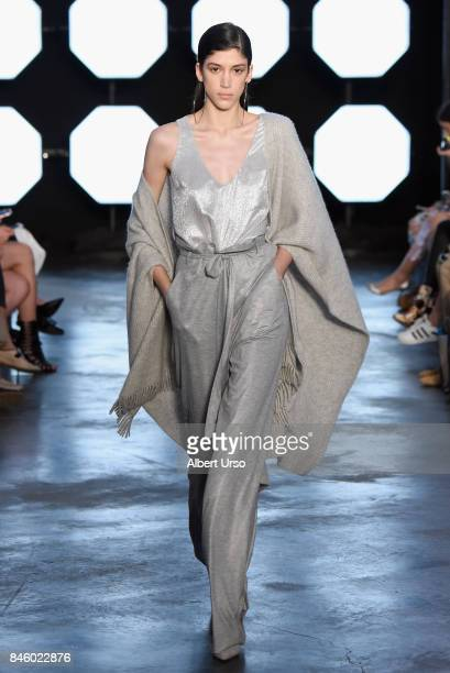 A model walks the runway for TRESemme at Sally La Pointe NYFW SS18 on September 12 2017 in New York City