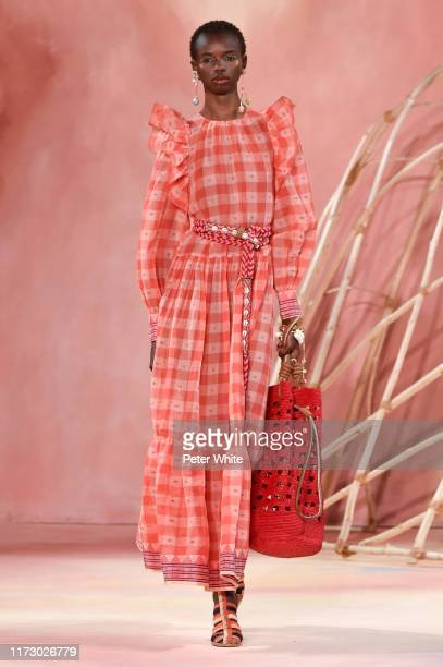 Model walks the runway for Ulla Johnson during New York Fashion Week: The Shows on September 07, 2019 in New York City.