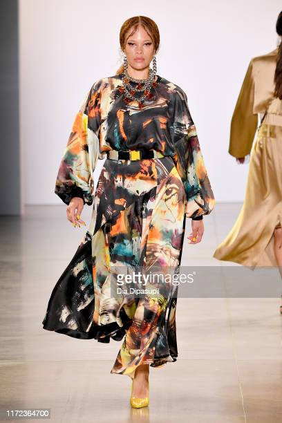 Model walks the runway for Victoria Hayes Spring/Summer 2020 during New York Fashion Week: The Shows at Gallery II at Spring Studios on September 04,...